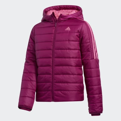 Girls Training Purple Classic Puffer Jacket