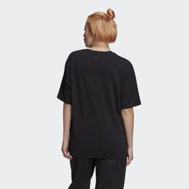 Women Originals Black Adicolor 3D Trefoil Tee