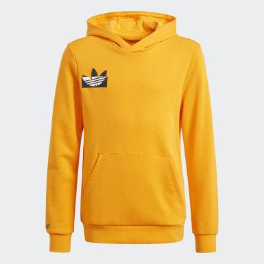 Sweat-shirt à capuche Graphic Orange Garçons Originals