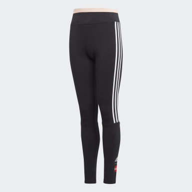 Youth 8-16 Years Training Black Cleofus Leggings
