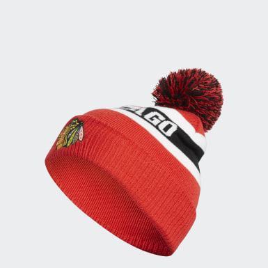 Blackhawks Cuffed Knit Pom Hat