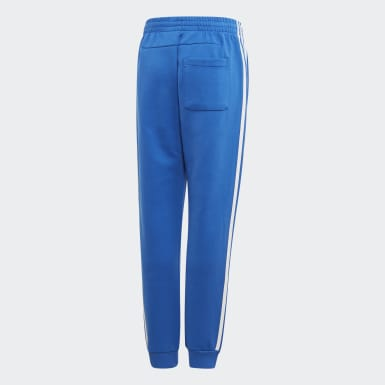Boys Training Blue Must Haves 3-Stripes Pants