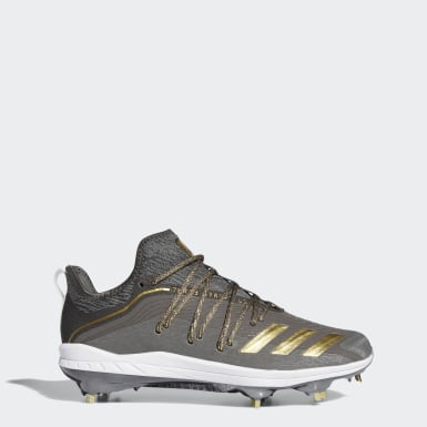 Men's Baseball Grey Adizero Afterburner Grail Cleats