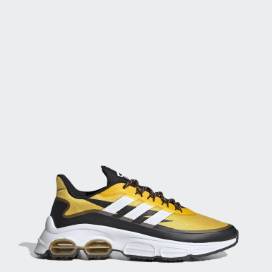 Men Sport Inspired Yellow Quadcube Shoes