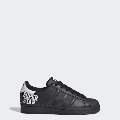 Tenis Superstar Negro Niño Originals