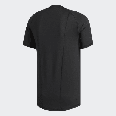 Men's Baseball Black Alphaskin Sport Fitted Tee