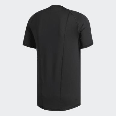 T-shirt ajusté Alphaskin Sport noir Hommes Entraînement