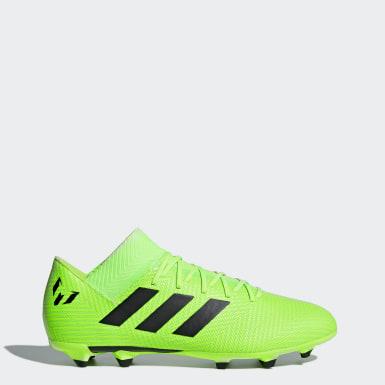 Calzado de fútbol Nemeziz Messi 18.3 césped natural seco Verde Fútbol