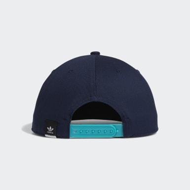 Boné Two-Tone Trefoil Snapback (UNISSEX) Azul Originals