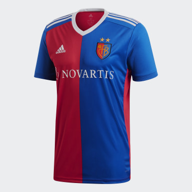 Men Football Multicolour FC Basel Home Jersey