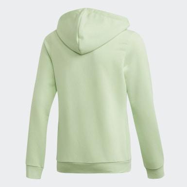 Mädchen Training Linear Kapuzenjacke Grün