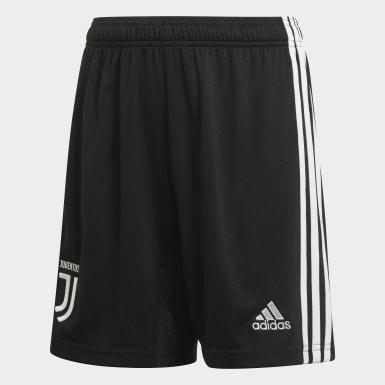 Boys Football Black Juventus Home Shorts