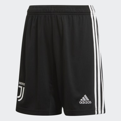 Youth 8-16 Years Football Black Juventus Home Shorts