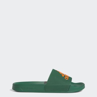 Men's Essentials Green Adilette Shower Slides