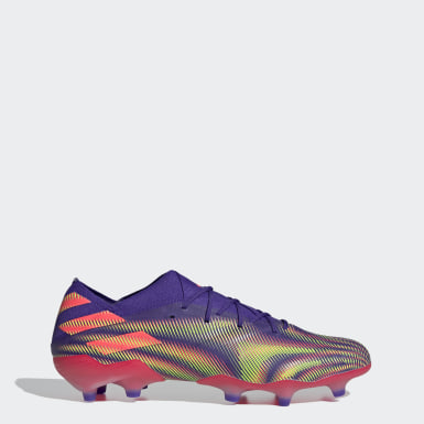 Bota de fútbol Nemeziz.1 césped natural seco Violeta Fútbol