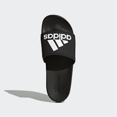 Training zwart Adilette Cloudfoam Plus Logo Badslippers