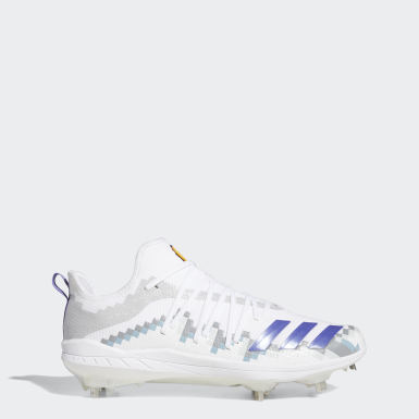 Men's Baseball White Afterburner 6 Grail 8-Bit Cleats