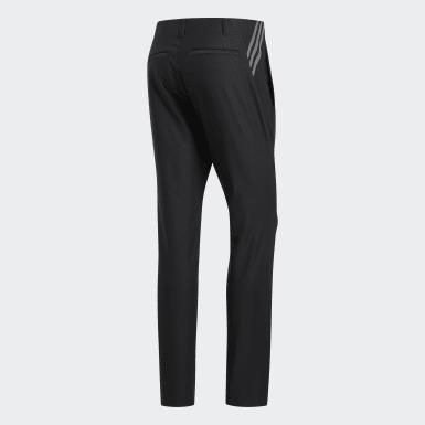 Muži Golf čierna Nohavice Ultimate365 3-Stripes Tapered