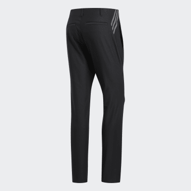 Men Golf Black Ultimate365 3-Stripes Tapered Pants