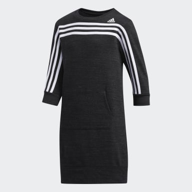 French Terry Stripe Dress