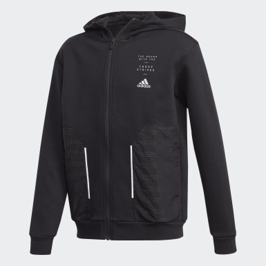 Youth Training Black Spacer Hoodie
