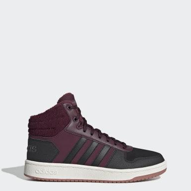 Бордовый Баскетбольные кроссовки Hoops 2.0 Mid
