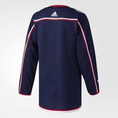 Maillot Blue Jackets Domicile Authentique Pro Bleu Hockey