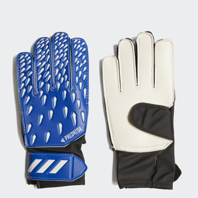 Youth 8-16 Years Football Blue Predator Training Goalkeeper Gloves