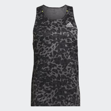 Men Running Grey Fast Primeblue Graphic Singlet