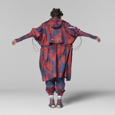 Γυναίκες adidas by Stella McCartney Κόκκινο adidas by Stella McCartney Long Lightweight Allover Print Parka