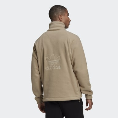 Felpa adicolor Polar Fleece Half-Zip Marrone Uomo Originals
