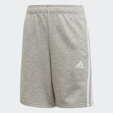 Shorts Must Haves 3 Franjas Gris Niño Training