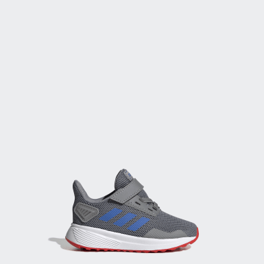 Kids Running Grey Duramo 9 Shoes
