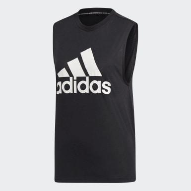 Camiseta sin mangas Must Haves Badge of Sport Negro Mujer Athletics