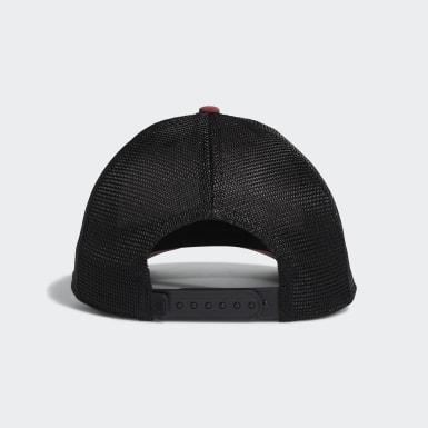 Men Golf Burgundy Patch Trucker Hat