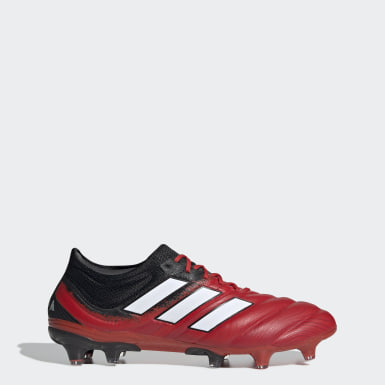 Calzado de fútbol Copa 20.1 Terreno Firme Rojo Hombre Fútbol