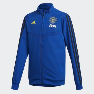 Casaco de Apresentação do Manchester United Azul Criança Futebol