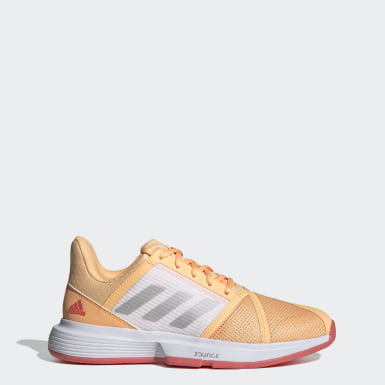 Women Tennis Orange CourtJam Bounce Shoes