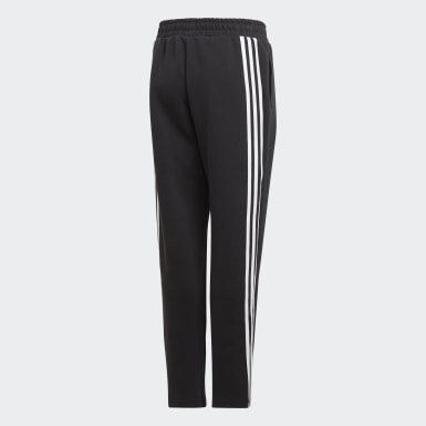 Jongens Training Zwart 3-Stripes Doubleknit Tapered Leg Broek