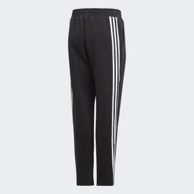 Kluci Trénink černá Legíny 3-Stripes Doubleknit Tapered Leg