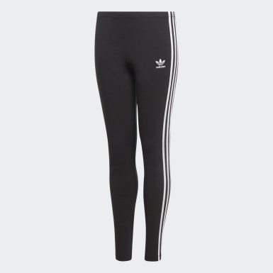 Kids Originals Black 3-Stripes Leggings