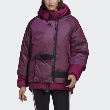 Frauen City Outdoor COLD.RDY Daunenjacke Weinrot