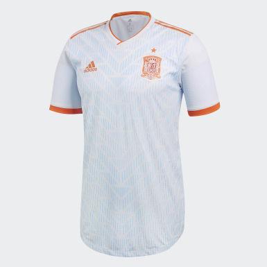 Maillot Espagne Extérieur Authentique Blanc Hommes Football