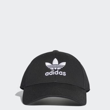 Cappellino Trefoil Baseball Nero Originals