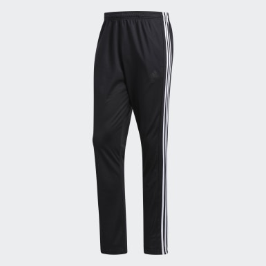 Men Training Black 3-Stripes Joggers