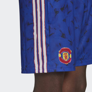 Manchester United Human Race Shorts Blå
