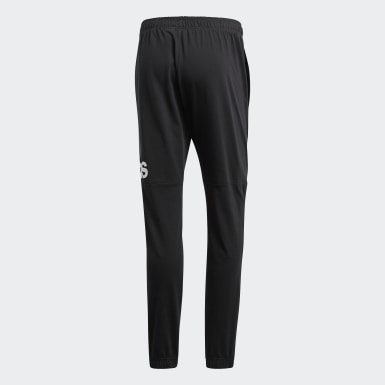 Men Athletics Black Essentials Performance Logo Pants