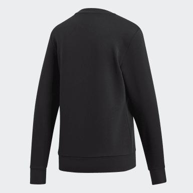 Women Training Black Essentials Linear Sweatshirt