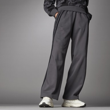Women Athletics Grey Wide Joggers