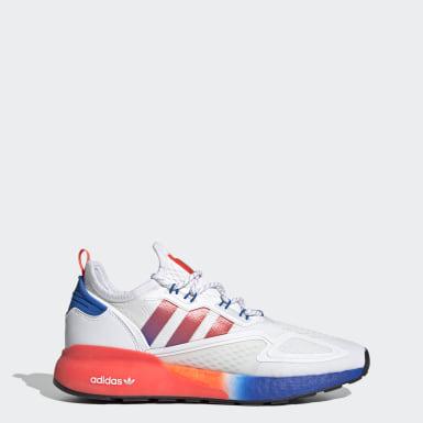 Originals สีขาว รองเท้า ZX 2K Boost